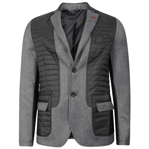 Fargo Mens Designer Tailored fit Blazer Smart Casual Charcol and Black jacket Coats RRP £200
